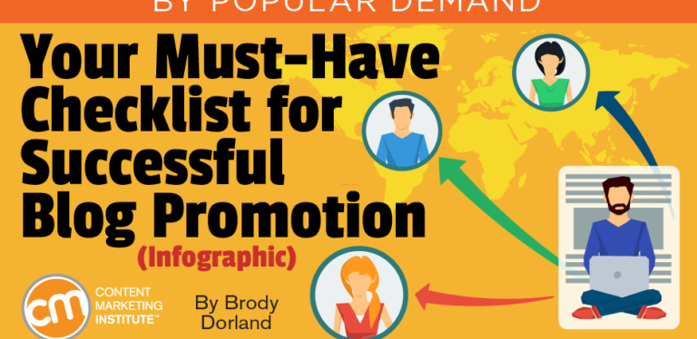 Use this must-have checklist to effectively promote your blogposts
