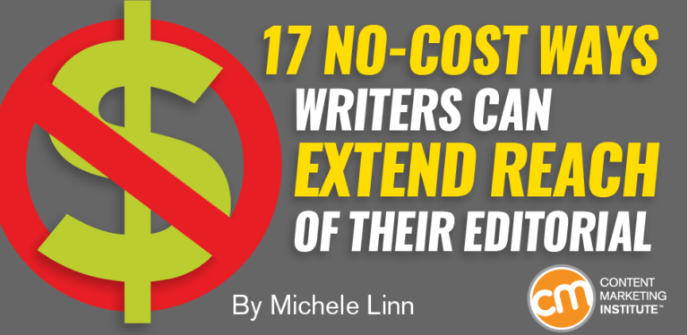 18 no-cost ways writers can effectively promote their content